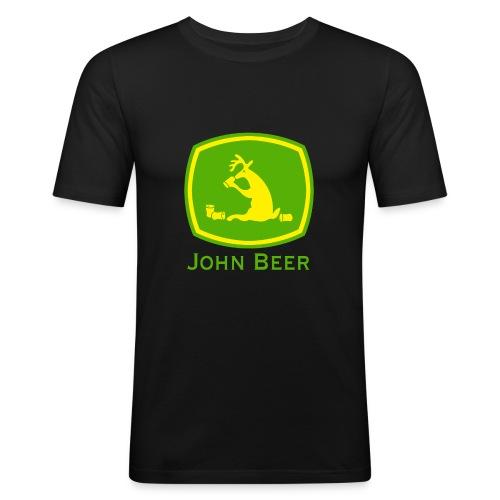 john beer-Funny Shirt - Männer Slim Fit T-Shirt