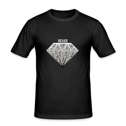 RichJer Diamant - Männer Slim Fit T-Shirt