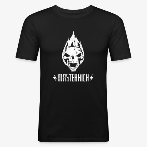 Masterkick logo blanc - T-shirt près du corps Homme