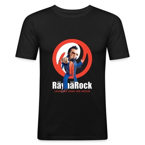 Räyhärock musta - Miesten tyköistuva t-paita
