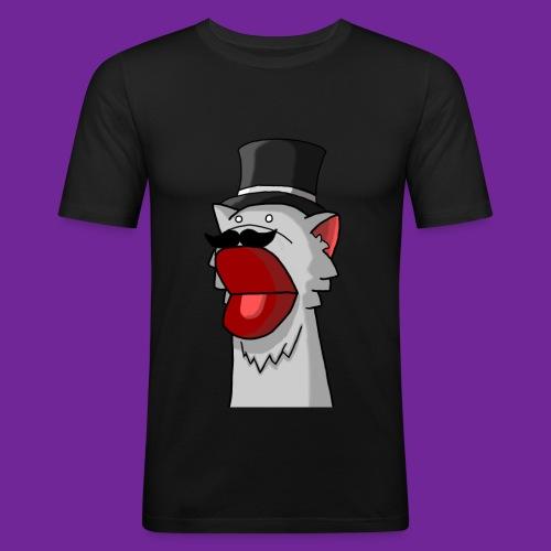 Katze mit Hut Handpuppe - Männer Slim Fit T-Shirt