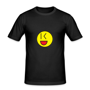 Cool Wink Smiley Hoodie - Men's Slim Fit T-Shirt