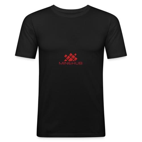 Minehub Logo - Männer Slim Fit T-Shirt