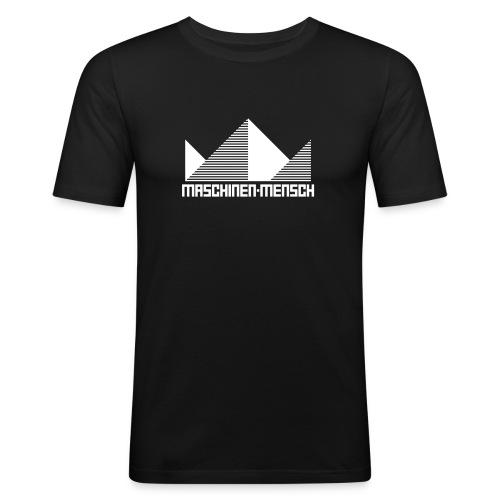 Maschinen-Mensch Logo black - Männer Slim Fit T-Shirt