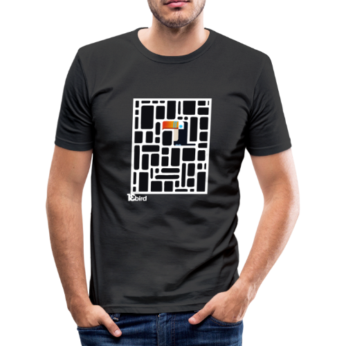 13 bird - Männer Slim Fit T-Shirt