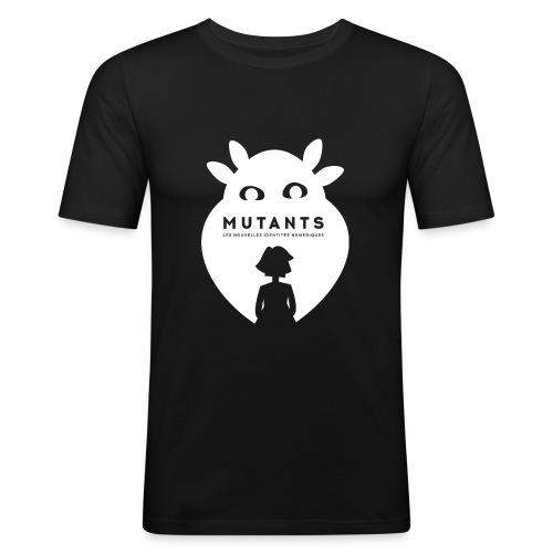 Mutant F blanc - T-shirt près du corps Homme