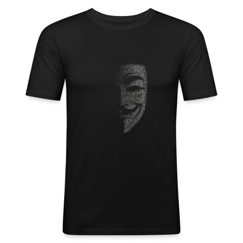V de vendetta   Mascara Hackers - Camiseta ajustada hombre