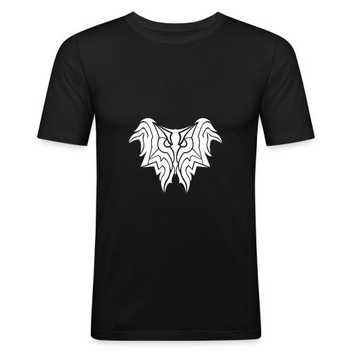 Insane Reactionz Logo weiß - Männer Slim Fit T-Shirt