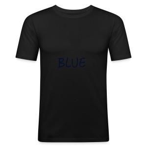 BLUE - slim fit T-shirt