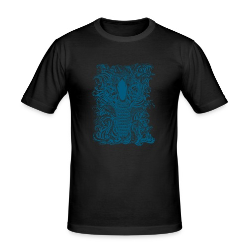 Snake-and-Water-in-Blue - Camiseta ajustada hombre