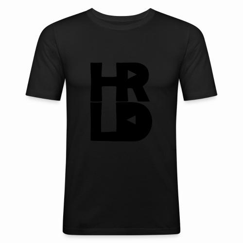 HRLD Black Logo - Miesten tyköistuva t-paita