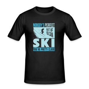Skiing T Shirt - Men's Slim Fit T-Shirt