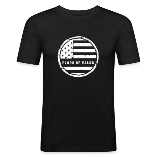 flags of valor - Men's Slim Fit T-Shirt