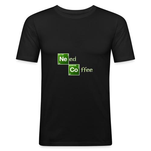 Need Coffee! - Männer Slim Fit T-Shirt