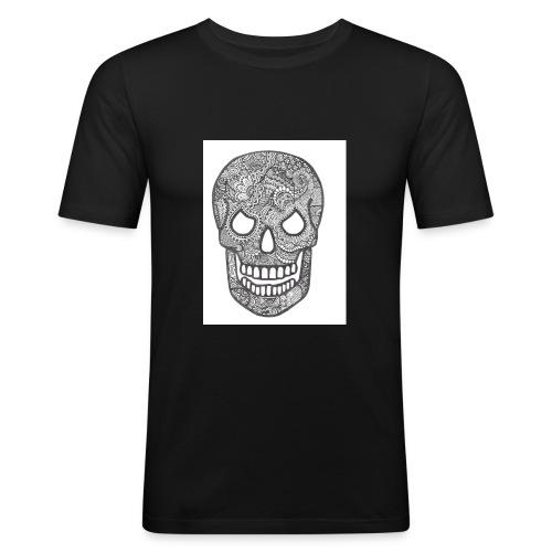 Zentangle Skull 1 - slim fit T-shirt