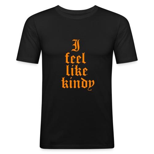 i feel like naranja - Camiseta ajustada hombre