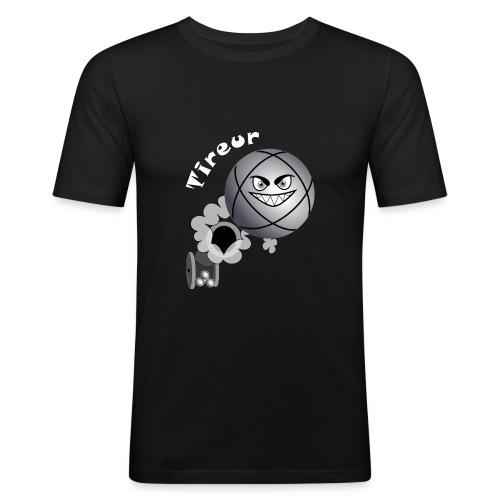 t shirt tireur pétanque boule existe en pointeur B - T-shirt près du corps Homme