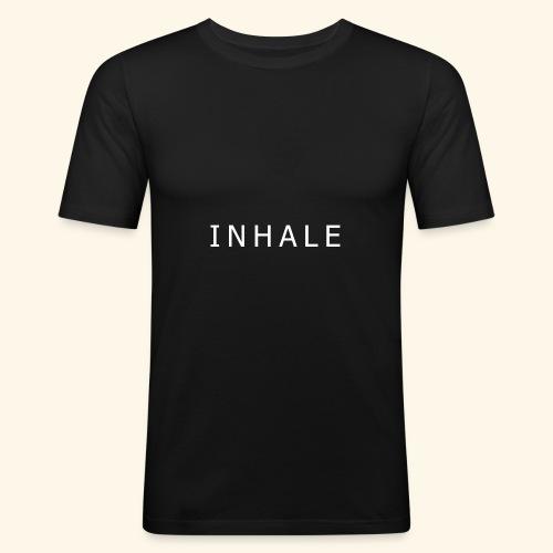 INHALE BLACK - Maglietta aderente da uomo