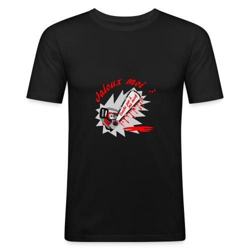 t shirt jaloux moi amour possessif humour FS - T-shirt près du corps Homme