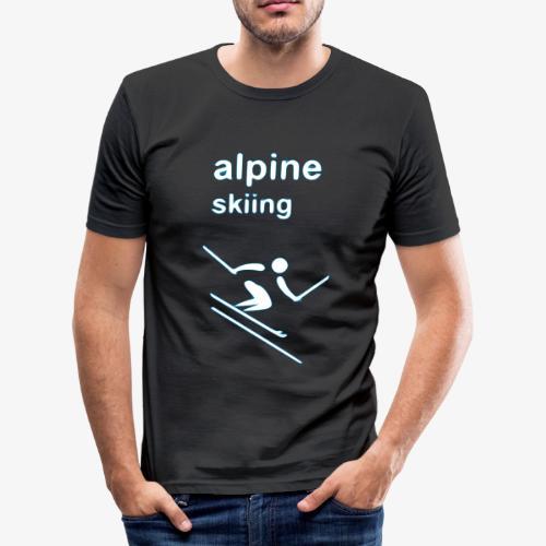 alpine skiing winter games 2reborn - Männer Slim Fit T-Shirt