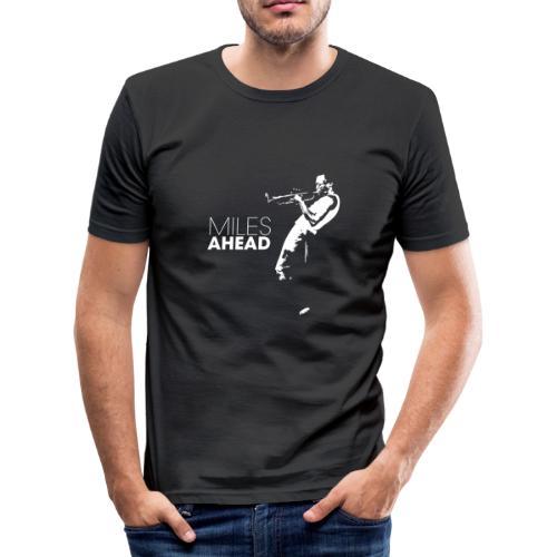 miles ahead white - slim fit T-shirt