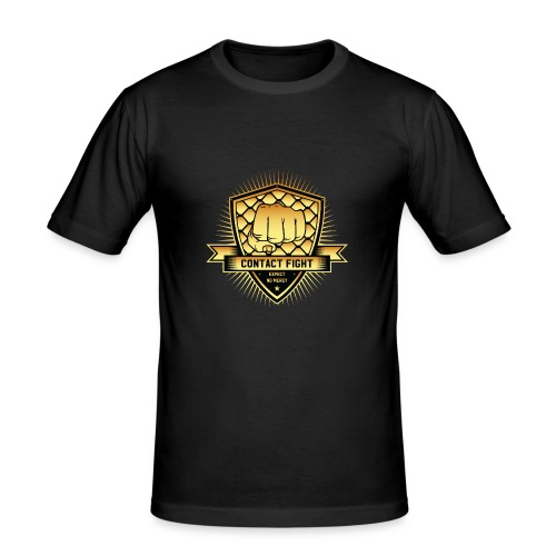 Contact Fight Gold - Männer Slim Fit T-Shirt
