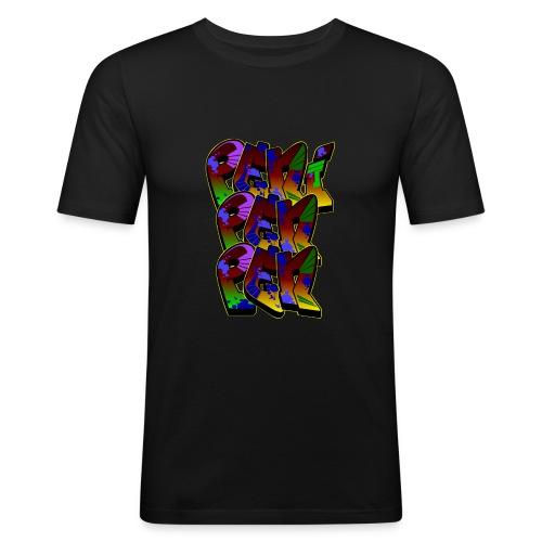 PENIPENPEN GRAFFITI - Männer Slim Fit T-Shirt