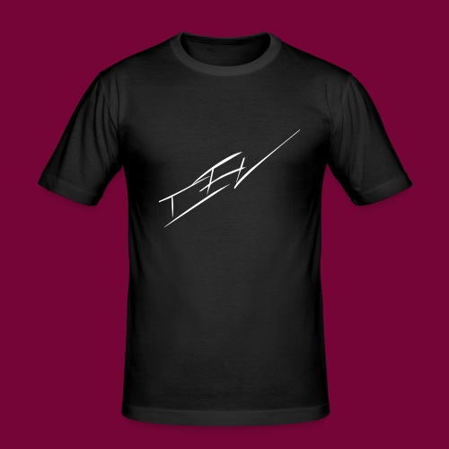 CEV SIGN LOGO - by CevGraphics - Männer Slim Fit T-Shirt
