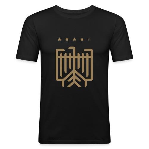 Deutsches WM T-Shirt (gold) - Männer Slim Fit T-Shirt