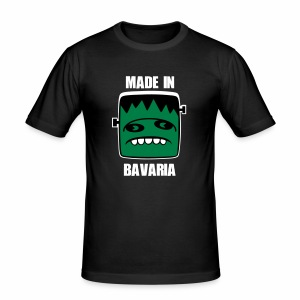 Fonster weiß made in Bavaria - Männer Slim Fit T-Shirt