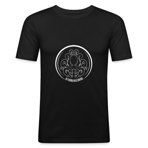 LOGO RECORDS White - T-shirt près du corps Homme