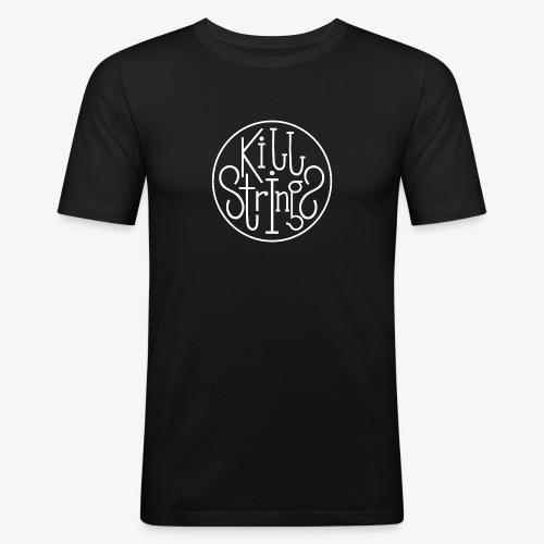 Kill Strings Logo - Männer Slim Fit T-Shirt