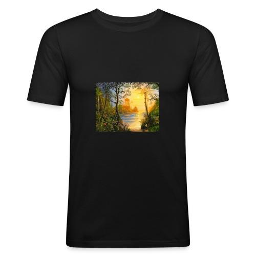 Temple of light - Men's Slim Fit T-Shirt