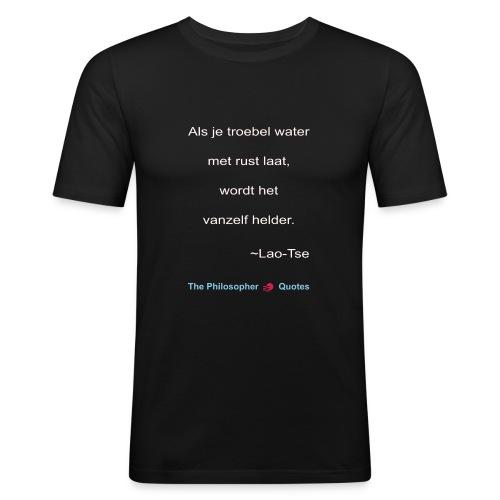 Lao Tse Troebel water w - slim fit T-shirt
