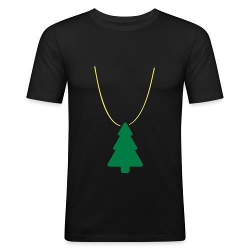 Xmas Swag: Weihnachtsbaum - Männer Slim Fit T-Shirt