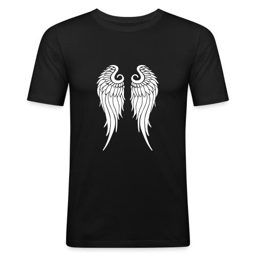 whitewings-ai - Men's Slim Fit T-Shirt
