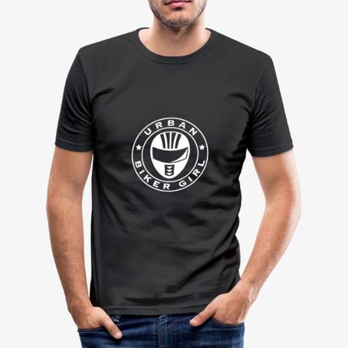 UBG WHITE by urbanbikergirl - Männer Slim Fit T-Shirt
