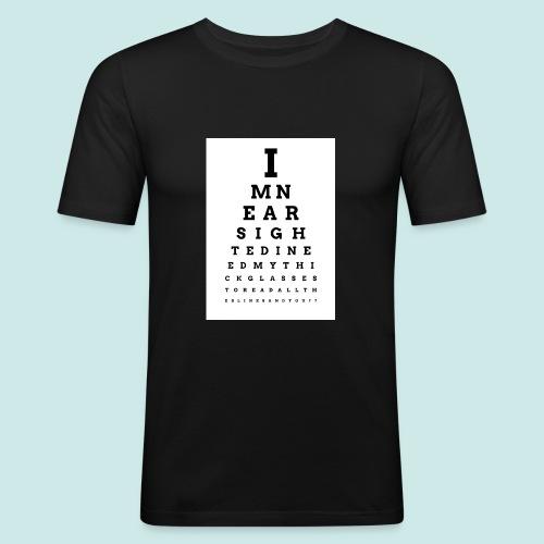 Eyechart Bold 2 - T-shirt près du corps Homme