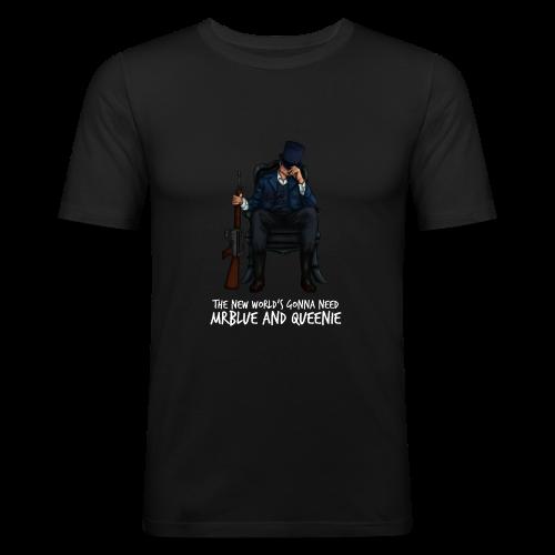 MrBlue's New World - Men's Slim Fit T-Shirt