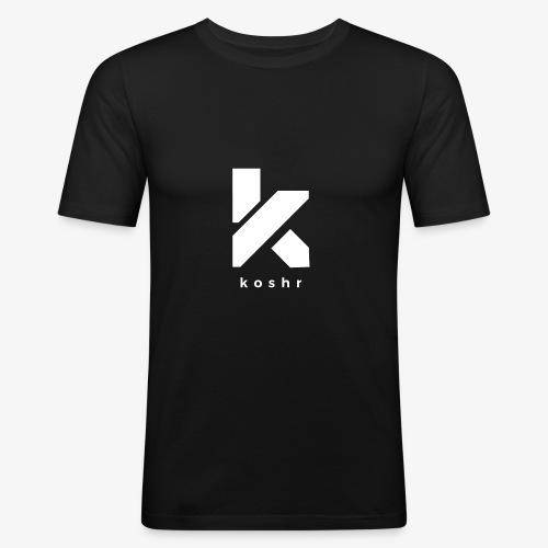 Koshr Official Logo - - Men's Slim Fit T-Shirt