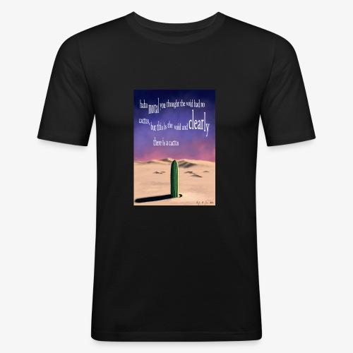 Surreal cactus - Men's Slim Fit T-Shirt