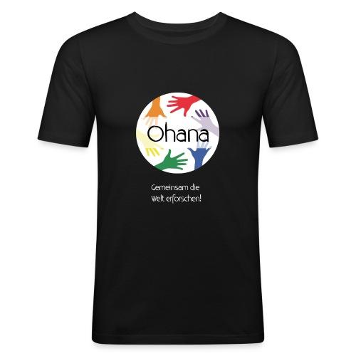 Logo mit weißem Text - Männer Slim Fit T-Shirt