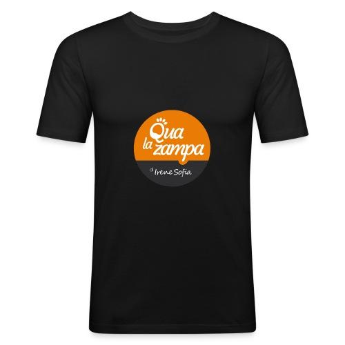 Logo Qua la Zampa - Maglietta aderente da uomo