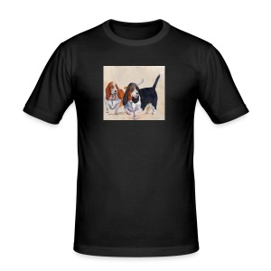 Basset hound_double-trot - Herre Slim Fit T-Shirt