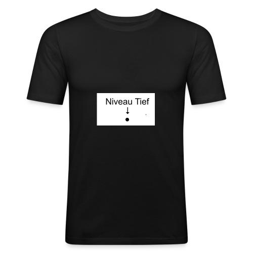 Niveau Tiefpunkt Shirt - Männer Slim Fit T-Shirt