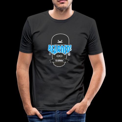 BEARDED! Logo - Männer Slim Fit T-Shirt