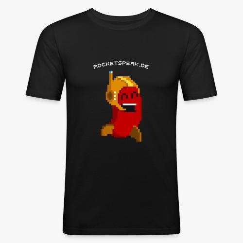 Pixelbohne mit Text - Männer Slim Fit T-Shirt