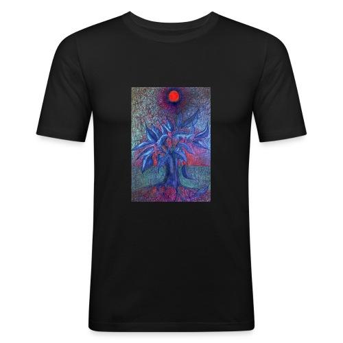 Trees Flower - Obcisła koszulka męska