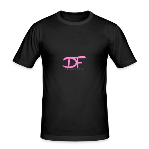 Dropfayter Logo - DF Roze - slim fit T-shirt