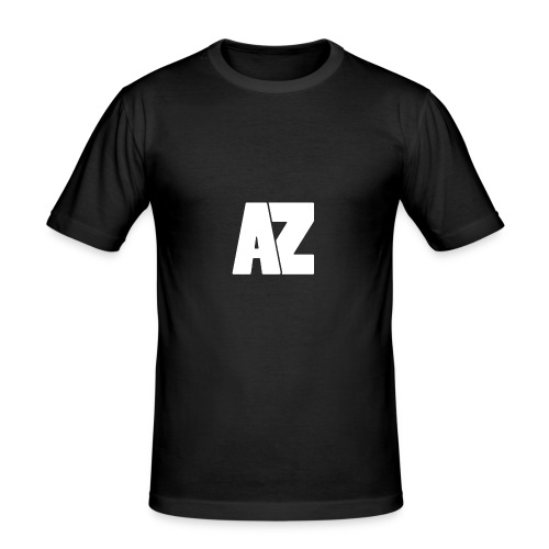 Androklez White Text - Men's Slim Fit T-Shirt